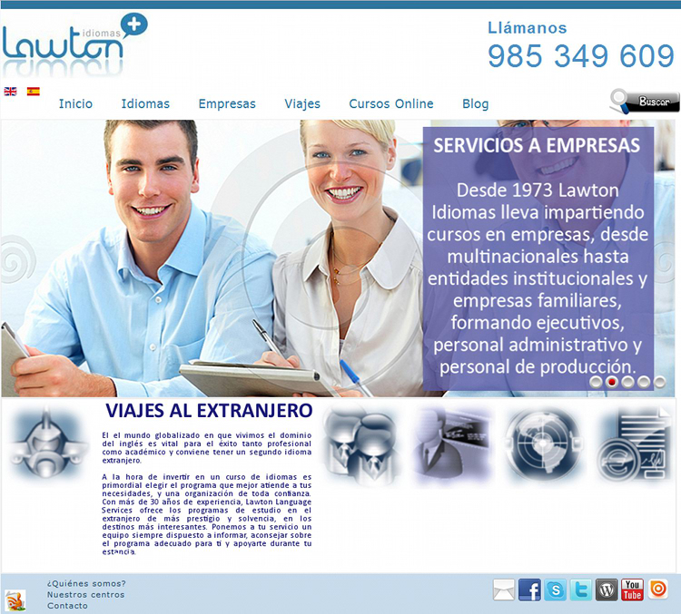 Pagina web de lawton school